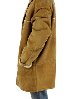 NEW Man's Camel Tipped Shearling Lamb Jacket