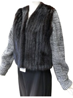 NEW Ranch Mink Jacket with Detachable Knit Sleeves