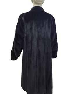 Ranch Mink Coat with Horizontal Sleeve Design