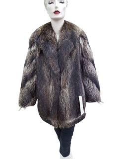 Raccoon Jacket with Diagonal Sleeve Design