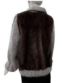 NEW Mink and Mohair Zip Jacket