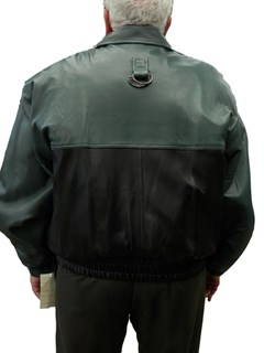 NEW Leather Jacket with Detachable Raccoon Lining