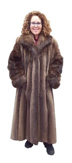 Hazel Long Hair Beaver Coat