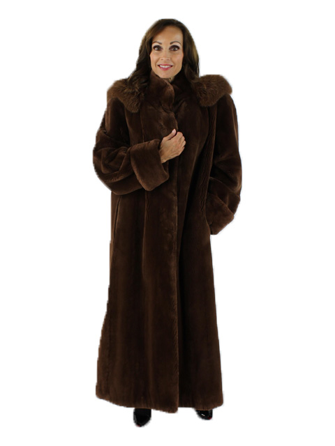 Woman's Ombre Sheared Beaver Fur Coat