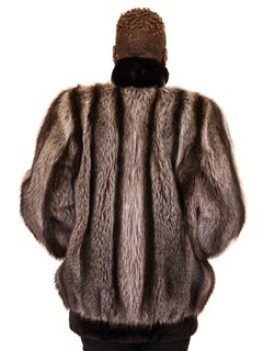 NEW Raccoon Jacket with Sheared Beaver Trim