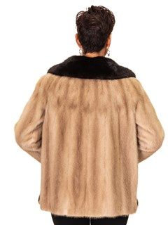 NEW Autumn Haze Mink Jacket with Ranch Mink Trim