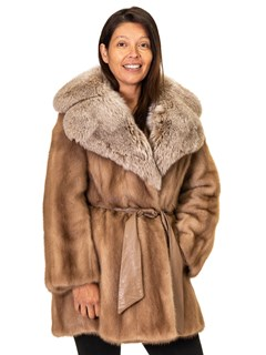 NEW Emba Mink Jacket with Fox Collar