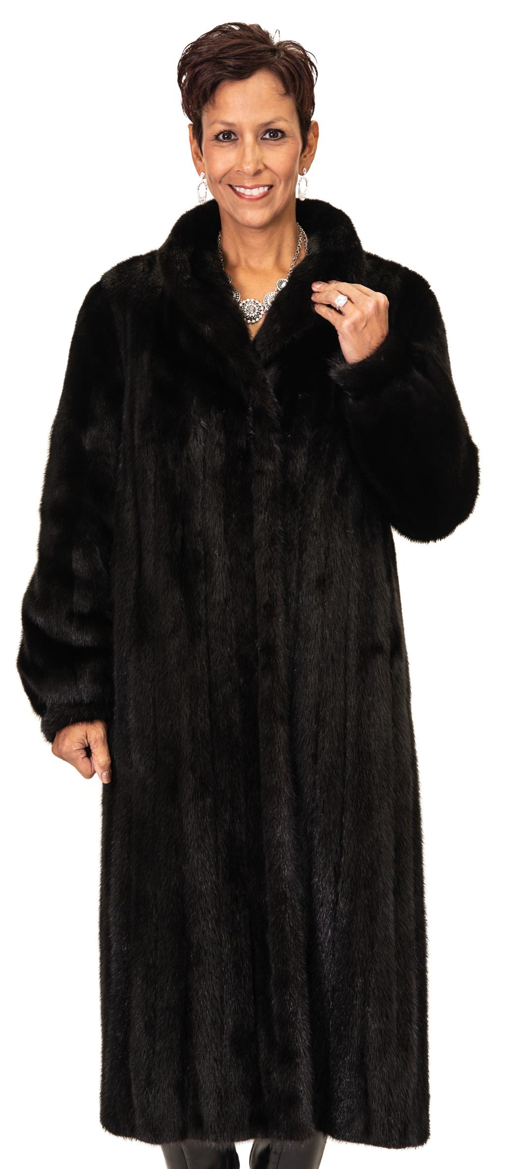 Petite Ranch Mink Coat