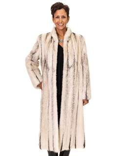 NEW Blush Kohinoor Black Cross Mink Letout Coat