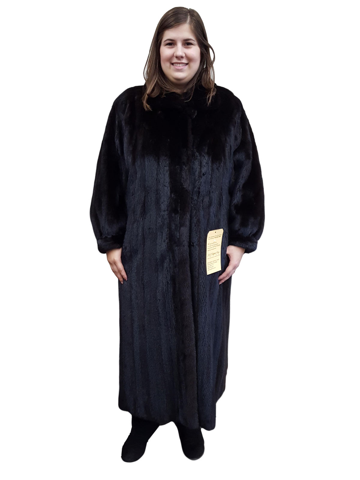 Dark Mahogany Mink Coat