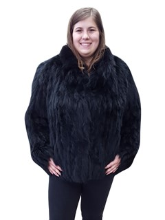 Black Corded Fox Jacket
