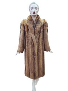 Natural Finnish Raccoon Coat