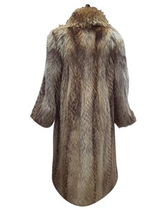 Natural Finnish Raccoon Coat