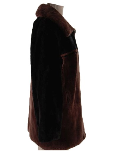 Sheared Beaver Fur Zipper Jacket