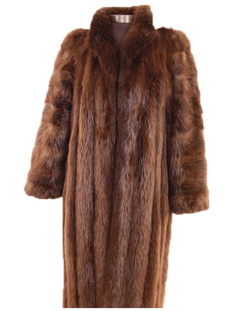 Petite Long Hair Beaver Stroller Estate Furs Carmel