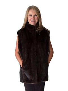 NEW 3 in 1 Suede and Mink Coat to Vest