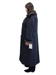 NEW Gabardine Microfiber Coat with Nutria Lining