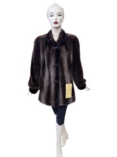 Phantom Sheared Beaver Jacket with Mink Trim
