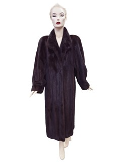 Mahogany Split Mink Coat