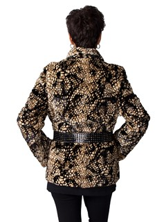 NEW Mosaic Sheared Mink Sections Jacket
