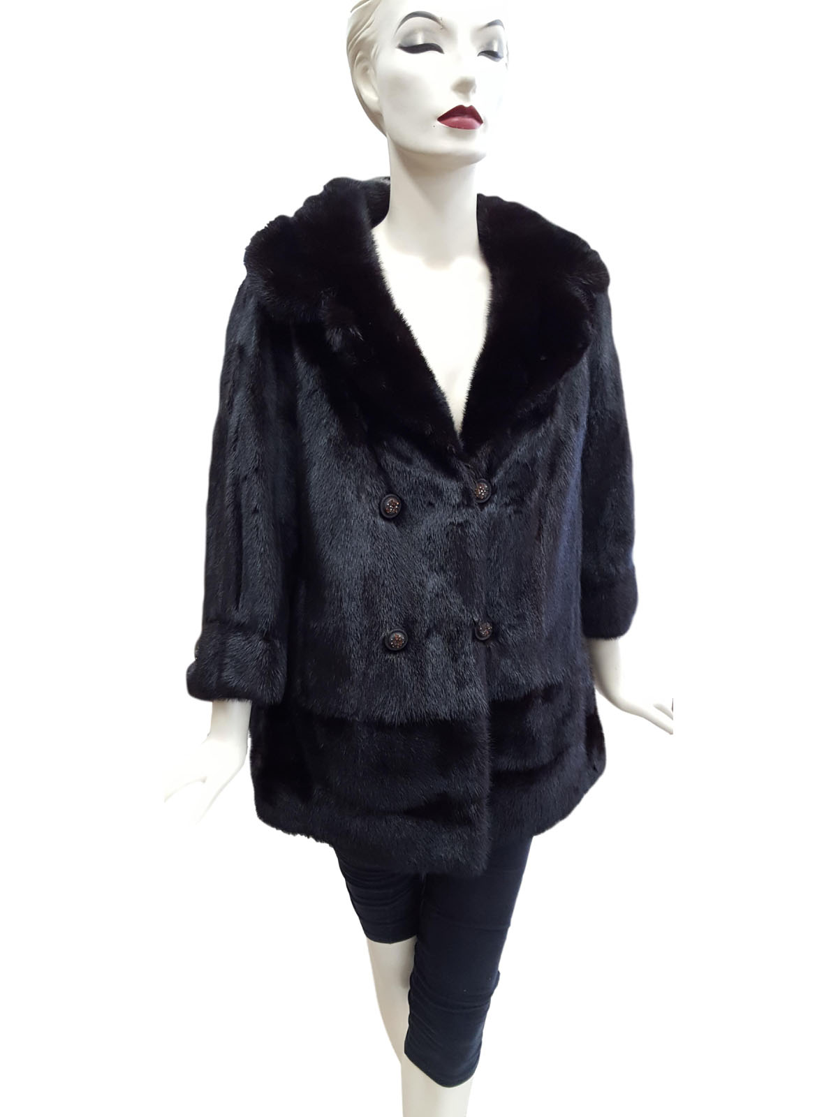 Ranch Mink Jacket with Double Row Border