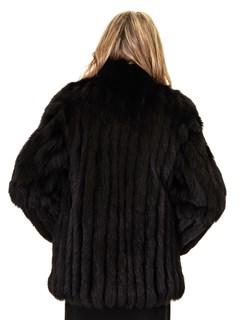 NEW Black Norwegian Corded Fox Zip Jacket