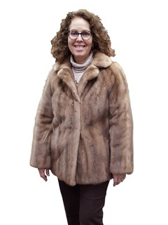 Pastel Autumn Haze Mink Jacket