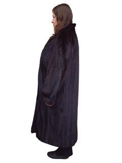 Dark Mahogany Letout Mink Coat