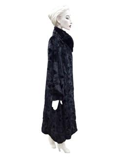 Black Mink Mosaic Sections Coat