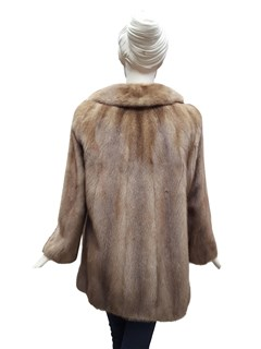Autumn Haze Double Breasted Mink Jacket