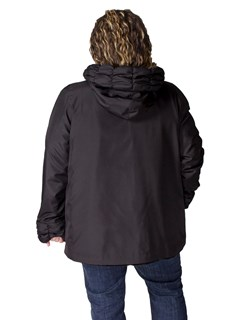 NEW Reversible Black Plucked Mink Hooded Parka