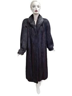 Ebony Long Hair Beaver Coat
