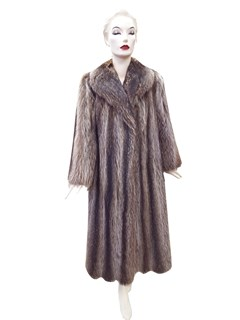 Natural Letout Raccoon Coat