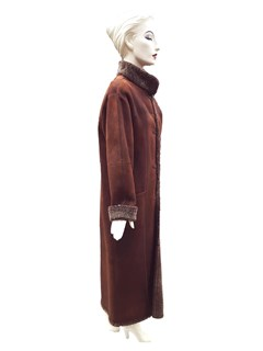 NEW Dominic Bellissimo Full Length Rust Reversible Shearling