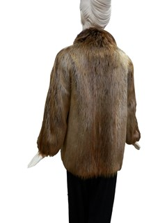 Natural Rust Long Hair Beaver Jacket