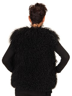 NEW Black Tibetan Curly Lamb Vest