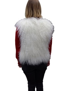 NEW White Tibetan Lamb Vest