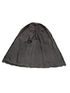 Natural Brown Long Hair Beaver Coat with Diagonal Sleeve Design