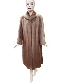 Golden Blonde Long Hair Beaver Coat