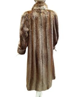 Rusty Blonde Long Hair Beaver Coat