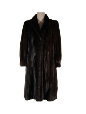Embroidered Ranch Mink Fur Coat