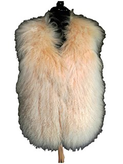 NEW Cream Tibetan Lamb Vest