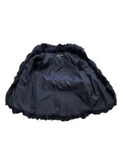 NEW Adrienne Landau Black Fox Vest
