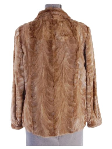 Pastel Mink Fur Section Jacket
