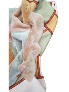 NEW Autunno Reversible Multicolor Lamb Shearling