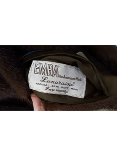 NEW Authentic Vintage Lunaraine Mink Trench Coat