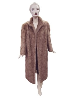 NEW Authentic Vintage Autumn Haze Oval Mink Sections Coat