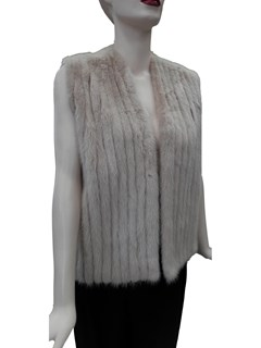 NEW Knit and Corded Mink Jacket Converts to Vest