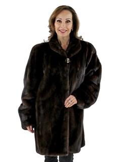 Woman's Mahogany Mink Fur Stroller