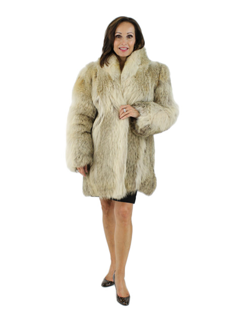 Woman's Natural Coyote Fur Jacket